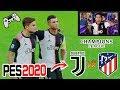 Reto ÉPICO!!! Partido PES2020 | Juventus Vs Atlético (con CASTIGO)