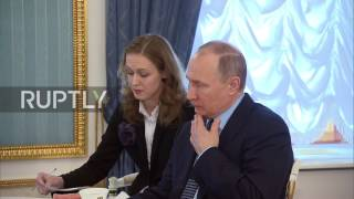 Russia: Putin and Le Pen meet in Moscow