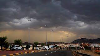 الأغزر والأقوى منذ عشرات السنين عواصف أكتوبر ٢٠١٨م  في مشاهد هائله شرق #مكةـالمكرمة