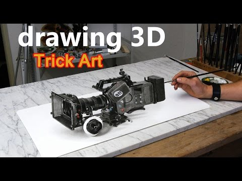 Drawing a video camera / 3D Trick Art