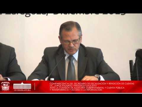 16/Diciembre/15 Secretario de Fiscalización y Rendición de Cuentas