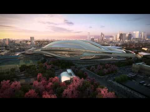 Japan National Stadium -- Tokyo 2020 Olympic Stadium -- by Zaha Hadid Architects