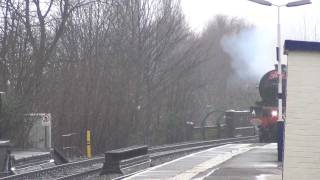 LMS Princess Royal Class No. 6201 Princess Elizabeth passes Patricroft 11th December 2011