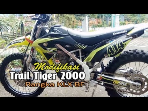 Trail Hasil Modifikasi Honda Tiger 2000 - Rangka KLX BF Plus Body   Stroke Up, Bore Up 230cc