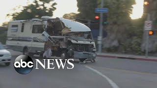 The chase ended when the driver plowed into a sedan and ran to the ...