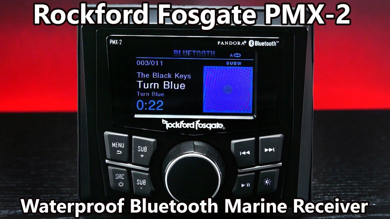 Rockford Fosgate Pmx 2 Waterproof Bluetooth Marine