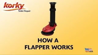 How does a toilet flapper work?