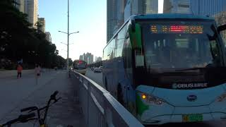 Shenzhen Eastern Bus: Jinlong bound C8 粤B-00227D Rt.M447 at Merchants Bank Building 1