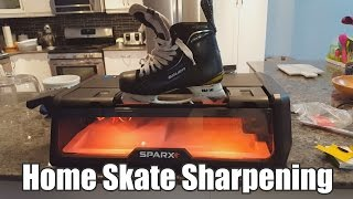 Repeat youtube video Sharpening skates in my KITCHEN