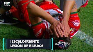 ¡Unai Bilbao sufrió escalofriante herida con la lona de publicidad! |Necaxa 0-0 Atlético San Luis