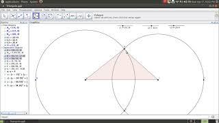 Como construir un triangulo conocidos sus tres lados