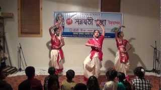 Sree Sree Gita Sangha Saraswati Puja Dance- Tumi Nirmolo Koro (2013)