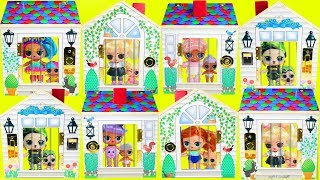 Doorbell LOL Surprise DollHouse Lost Lil Sisters and Fuzzy Pets   Prank Gone Wrong