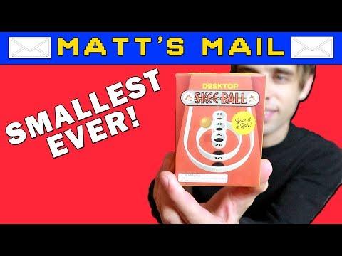 World's Smallest Skee Ball Arcade Game! Matt's Mail