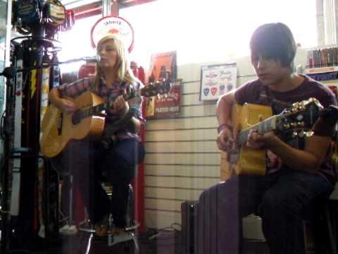 Amanda Agnew playing live at Matchetts Music Shop, Belfast