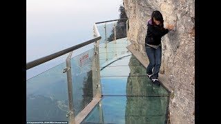 The SCARIEST Viewpoint in China   100-meter-long Glass Walkway   COILING DRAGON CLIFF SKYWALK