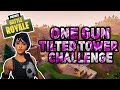 One Gun Only Tilted Tower Challenge - Forntnite