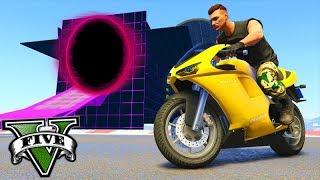 GTA V Online: O PORTAL SECRETO com MOTOS!!! (SKILL TEST)