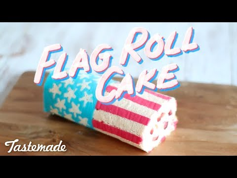 American Flag Roll Cake   The Scran Line