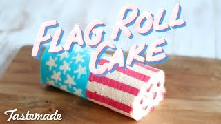 American Flag Roll Cake | The Scran Line