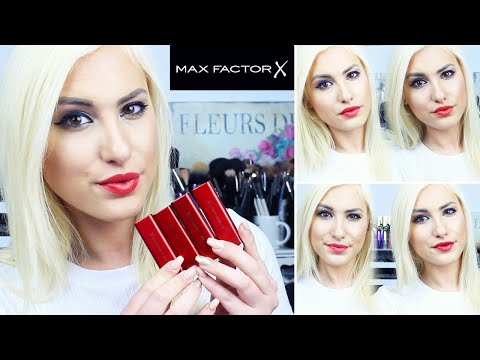 MARILYN MONROE LIPSTICK COLLECTION BY MAX FACTOR   Swatches   ♡ Stefy Puglisevich
