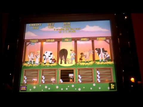Milkin' It slot bonus win with retrigger at Sands Casino in Bethlehem, PA