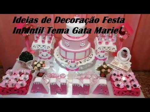 Ideias de Decoração Festa Infantil Tema Gata Marie / Por Carla Oliveira