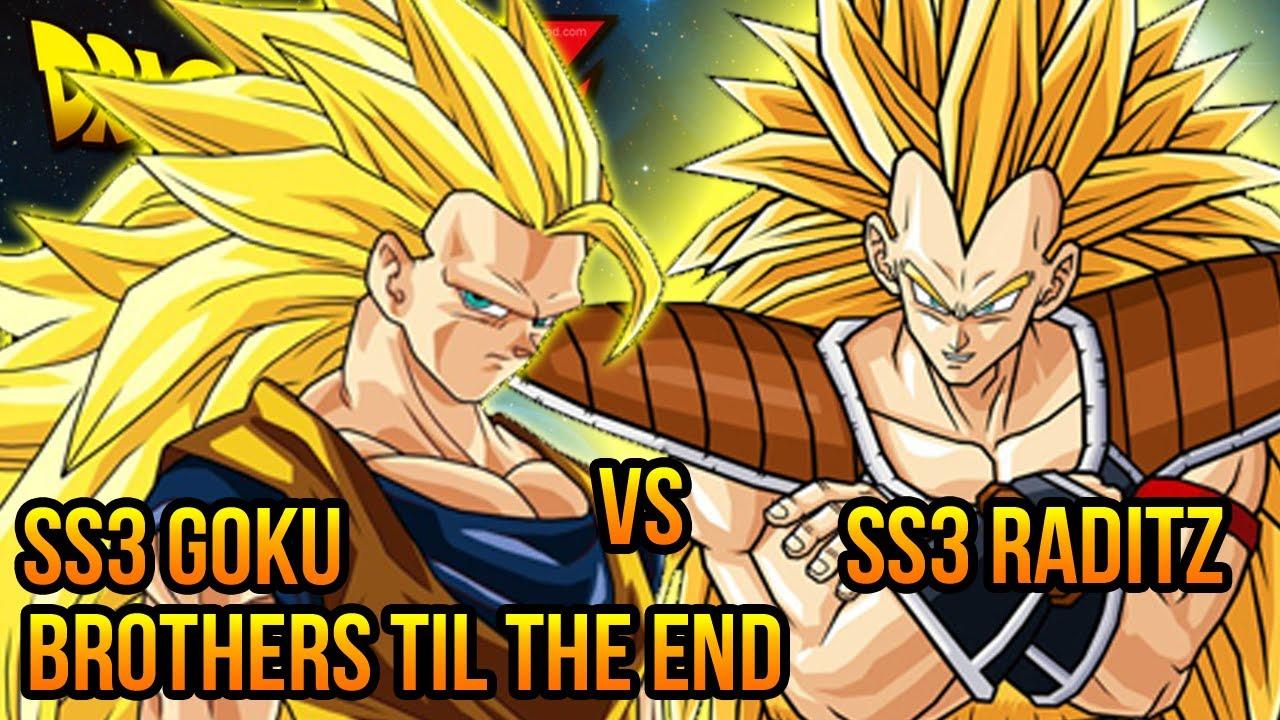DragonBall Z AF Super Saiyan 3 Goku VS SS3 Raditz DBZ Budokai Mod