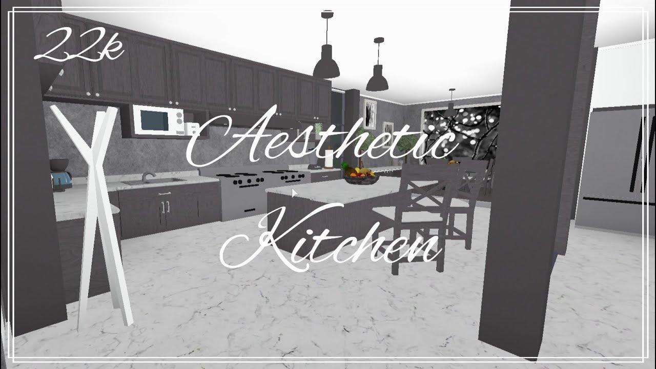 Roblox Welcome To Bloxburg Aesthetic Kitchen Youtube