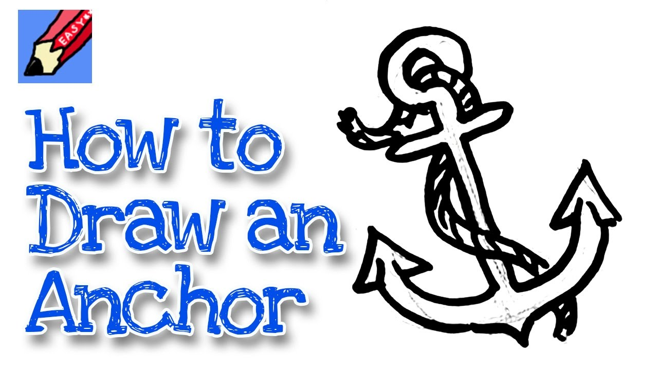 how to draw a ship u0027s anchor real easy for kids and beginners