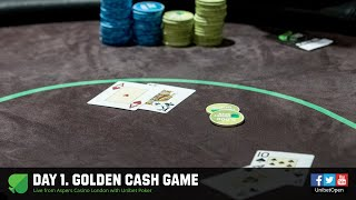 Day 1. Golden Cash Game at Aspers with Unibet Poker. Webcast archive