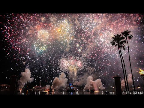 2017 Epcot 4th of July Fireworks - Heartbeat of Freedom [4K]