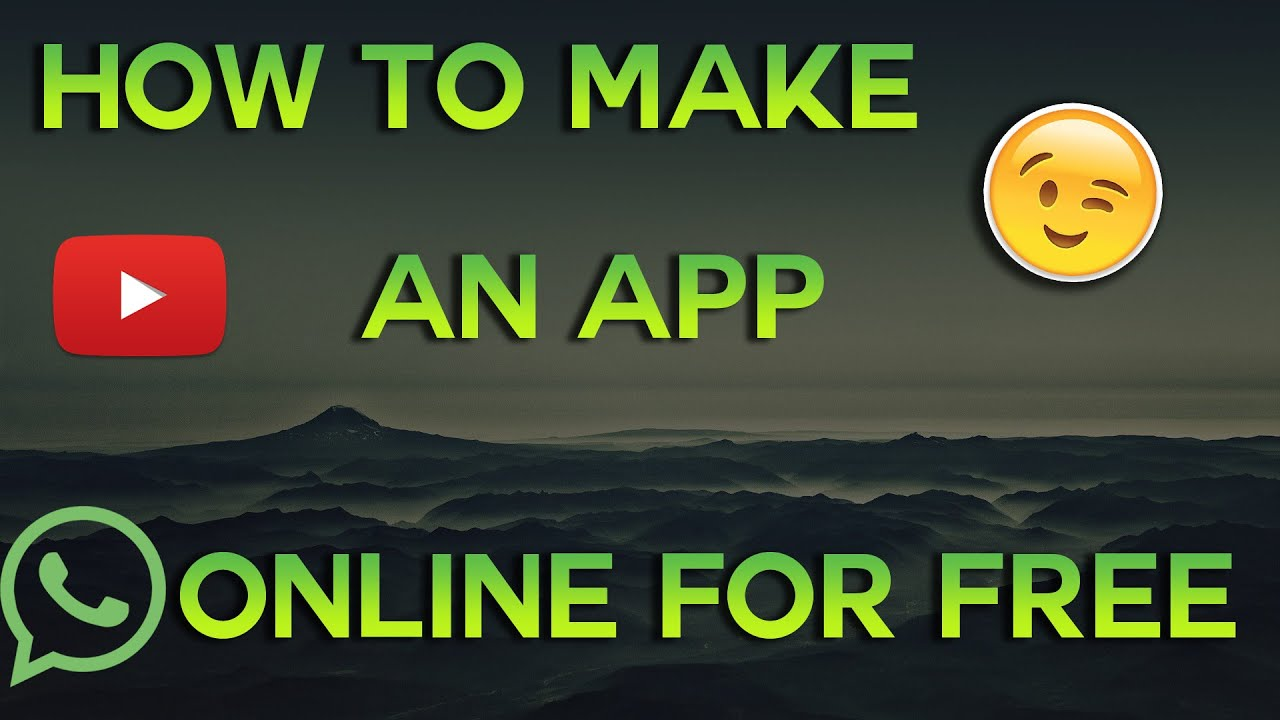 How to make an Android App online for free! - YouTube