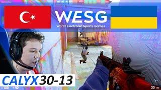 CSGO Calyx POV 30-13 vs Ukraine (WESG 2016 World Finals)