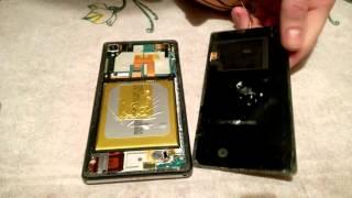 замена задней крышки на Sony Xperia Z2!
