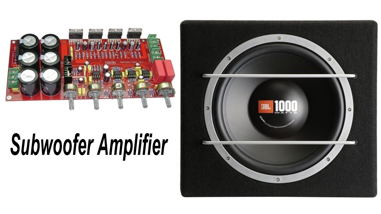 How To Make Home Subwoofer Amplifier Tda 2009 Build Your Own 10watt Power Using An Ic 2003