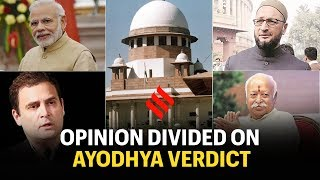 #AyodhyaVerdict: Owaisi, RSS, Congress and BJP give first reactions