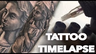 Video TATTOO TIMELAPSE | REAL TIME | ANGEL AND DOVES | CHRISSY LEE download MP3, 3GP, MP4, WEBM, AVI, FLV Mei 2018