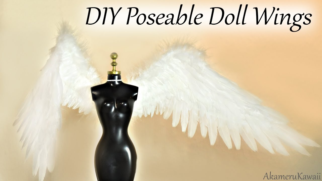 DIY Angel Doll Wings - Doll Craft Tutorial - YouTube