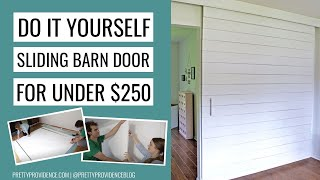 Sliding Barn Door For Less! How-to Video