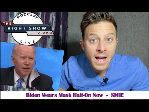 Biden Wears Mask Halfway On Like Idiot (comedian K-von just can't)