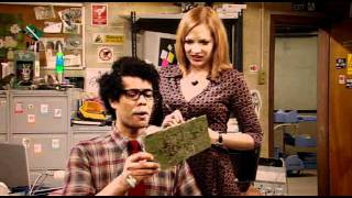 The IT Crowd - Moss laughing at something