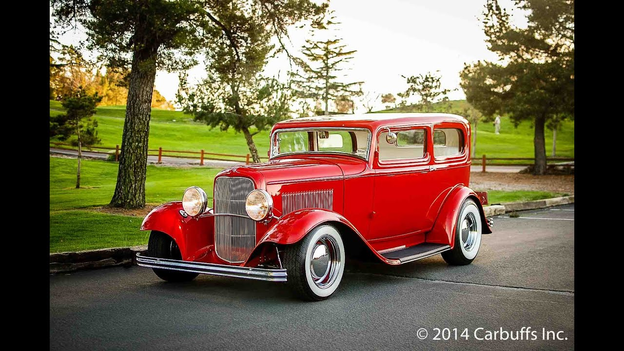 1932 Ford Tudor Sedan Hot Rod For Sale - Carbuffs Inc - YouTube