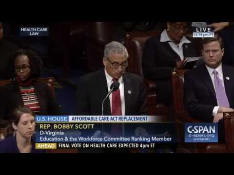 Ranking Member Bobby Scott  Questions Who Will Benefit from #TrumpCare