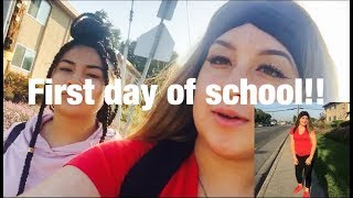 TEEN MOM: FIRST DAY OF SCHOOL VLOG!