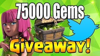 WINNER #3 | 75000 GEM Giveaway!  TH12 CELEBRATION | Clash of Clans