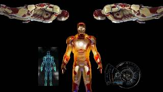 Iron man 3d hologram video for 3 sided hologram pyramid
