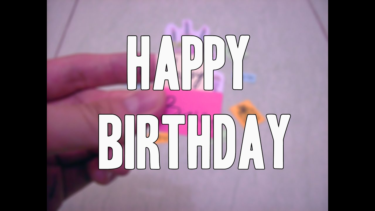 Stop Motion Video Happy Birthday To Ruth Yesa Caroline Youtube
