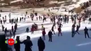 اخبار المغرب شجار عنيف على الثلج بين مغاربة maroc 2017