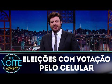 Monólogo: eleições com votação pelo celular | The Noite (10/08/18)